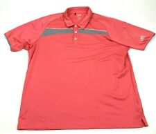 Adidas Climacool Dry Fit Polo Men Size 2XL XXL Coral Stonecreek Golf Club Ringer