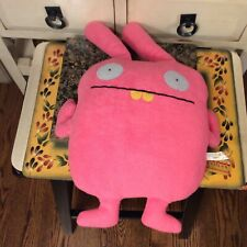 UglyDoll Plush Wippy Pink Gray Eyes Felt Appliques  18""