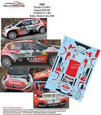 DECALS 1/43 REF 2061 CITROEN C3 R5 CIAMIN RALLYE MONTE CARLO 2020 WRC RALLY