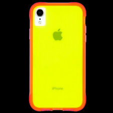 Case-Mate Tough Clear Protective Case for iPhone XR - Yellow/Pink Neon