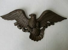 "VINTAGE 1966 22 1/2"" Wide Syroco USA Plastic Bald Eagle Wall Decoration Brass"