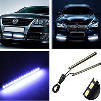 Universal 2x Ultra-Thin Car LED Fog Signal Light Daytime Running Lamp Strip DRL
