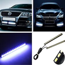 Universal 2x Ultra-Thin Car LED Fog Signal Light Daytime Running Lamp Strip DRL
