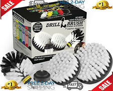 Drill Brush Ultimate Car Wash Kit Cleaning Supplies Carpet Automotive Soft White