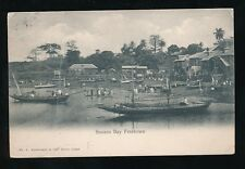 Africa SIERRA LEONE Susans Bay Freetown 1907 PPC creases local pub Stadelmann