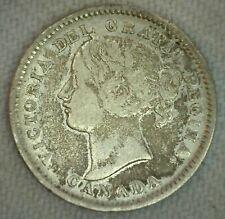 1900 Canada 10 Ten Cent Coin Silver Fine
