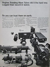 11/1972 PUB HUGHES AIRCRAFT ELECTRONICS TRAVELING-WAVE TUBES SPACE ORIGINAL AD