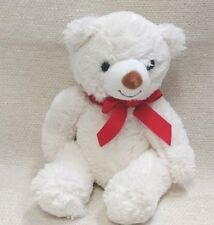 "Hallmark Adorable White 11"" Teddy Bear Soft & Snugly 180137"