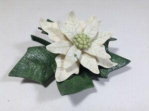 Lenox White Poinsettia Garden Flower Porcelain NEW IN BOX