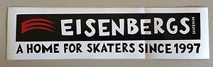 """Eisenbergs Skatepark A Home For Skaters Sticker Black/Red/White  11.5 x 3"""""""