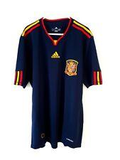 España Home shirt 2010. Large. Adidas. Azul Adultos Manga Corta Fútbol Top L.