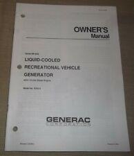 Generac Np 65d Rv Generator Diesel Engine Owners Maintenance Manual Book 9343 0