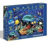 CLEMENTONI Magic 3D Glasses DOLPHIN REEF 1000 Pieces Jigsaw Puzzle Fish