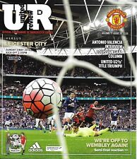 MANCHESTER UNITED v LEICESTER CITY Premier League 2015/16 MINT