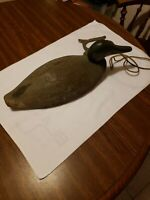 Antique Working Duck Decoy Hand Carved And Painted