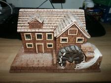 Christmas Village Mill, Handmade & Excellent Details Glitter