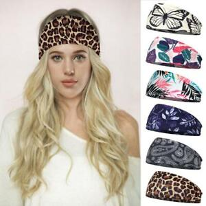 Women Wide Sport Yoga Headband Hairband Elastic Turban Stretch Hair Band x 1 New