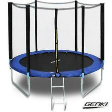 Genki 8ft Trampoline Round With Safety Net Spring Pad Cover Enclosure & Ladder