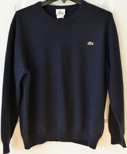 Lacoste Mens 6 or XL Wool Pullover Sweater Navy