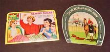 "2 Vintage Needle Cases ""Jockey Club"" & ""Sewing Susan"""