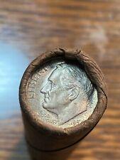 1954 Sealed Bankwrapped Gem Roosevelt Dime Roll Estate Auction N/R Chn