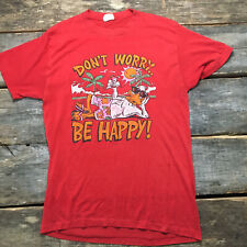 Vintage Royal First Class L Dont Worry Be Happy Paper Single Stitch Tshirt Tee