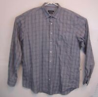 Bugatchi Uomo Mens Shirt Size XL LS Shaped Fit Flip Cuff Button Down