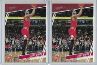 2019-20 Chronicles Basketball Coby White Rookie Card RC Lot of 2 #66 Bulls