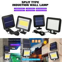 56/100 LED Solar Motion Sensor Wall Light Outdoor Garden Yard Lamp Floodlight