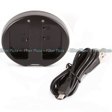 USB Dual Charger For DMW-BLF19 BLF19E BLF19GK Battery Panasonic DMC-GH4 DMC-GH3