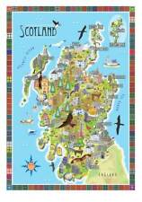 SCOTLAND Beautiful contemporary illustrated map, limited edition of 150