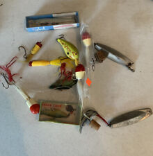 Vintage Fishing Lures Creek Chub, Rebel And Others 11 Pcs