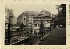PHOTO ANCIENNE - VINTAGE SNAPSHOT -STRASBOURG PETITE FRANCE ALSACE MAISON 1950 3
