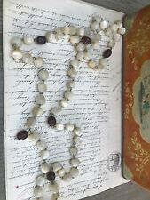Vintage French Rosary Beads Mother of Pearl Without Cross