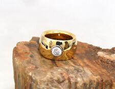 Massiver Schwerer 750er Gold Ring mit einem ca. 1.00ct Brillant, ca. 55 gramm