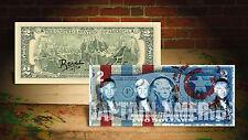 DEREK JETER CAPTAIN AMERICA BLUE by RENCY Art Signed Giclee on US $2 Bill Banksy