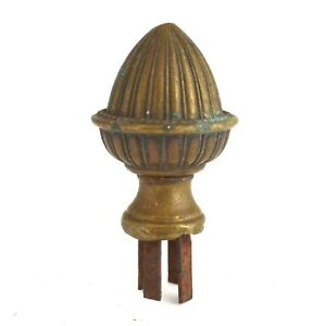 Vintage Antique Brass Bronze Finial Top Pine Cone architectural salvage
