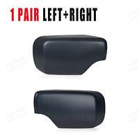 Right+Left Door Mirror Cover Caps Fits FOR BMW E46 E39 325i 530i 540i 330i 525i