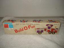 VINTAGE 1965 TUPPERTOYS BUILD-O-FUN TOY TUPPERWARE RARE