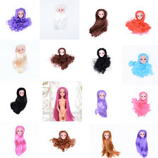 Quality Doll Head with Colorized straight Hair DIY Accessories For BDAU