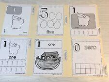 Blackline Worksheets Numbers - 6 Folders -Pre-K Kindergarten Resource 150+ Pgs