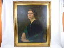 """(B425) Ölgemälde """"Jugendstil Portrait - Junge Dame"""" signiert B.Sondberg 1914"""