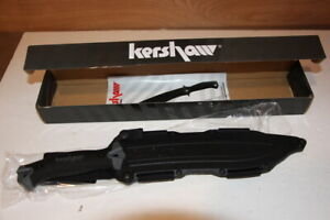 """Kershaw Knife 1077 Camp 10 Fixed 10"""" Carbon Steel Blade NEW"""