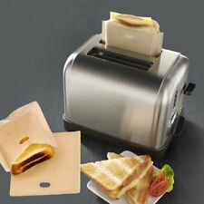 5PCS Reusable Bread Toaster Bag Microwave Heat Non Stick PTFE Coated