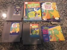 Sesame Street: Big Bird's Hide & Speak, 123 & Countdown NES Nintendo lot box