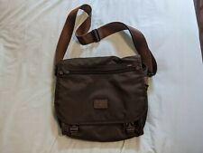 TUMI Dark Brown Messenger Laptop Crossbody Nylon Leather Shoulder Bag Briefcase