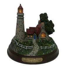 "Thomas Kinkade ""The Light of Peace"" Lighted Cottage Lighthouse"