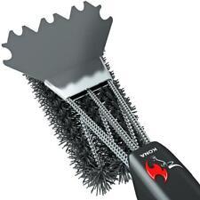 Kona Safe/Clean Ceramic/Nylon Grill Brush with Scraper - Metal Bristle Free - Wa