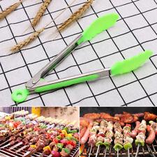 Cuisine en Silicone Salade Serving Barbecue Pinces En Acier Inoxydable Poignée Ustensile Outil Nouveau