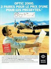 PUBLICITE ADVERTISING 126  1998   Opticiens Optic 2000   verres varilux comfort